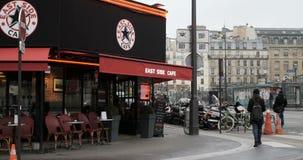 East Side Cafe on 5 Rue du 8 Mai 1945 in Paris, France stock video