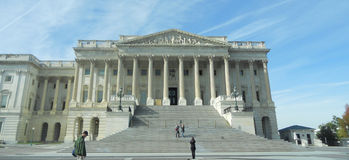 East side of the Capitol. Washington D.C.  Senate United States Royalty Free Stock Image