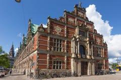 East side of Copenhagen stock exchange building Royalty Free Stock Photo