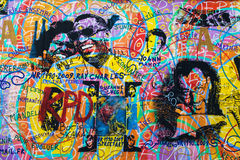 East Side Gallery, Amour Paix Stock Photo