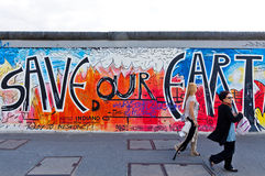 East Side Gallery in Berlin, Germany Stock Image