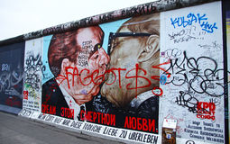 East Side Gallery in Berlin, Germany Royalty Free Stock Photography
