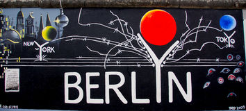 The East Side Gallery Stock Photography