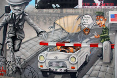 The East Side Gallery Royalty Free Stock Photos