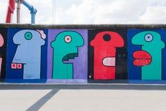 East Side Gallery - Berlin Wall. Berlin, Germany royalty free stock photography