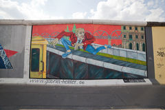 East Side Gallery - Berlin Wall. Berlin, Germany Royalty Free Stock Image