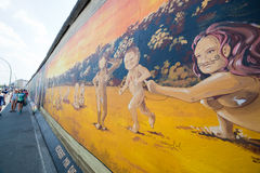 East Side Gallery - Berlin Wall. Berlin, Germany Stock Photo