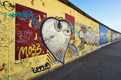 East Side Gallery Berlin Wall international memorial to freedom. Stock Photo