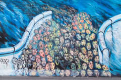 East Side Gallery, Es geschah im November Stock Image