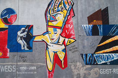 East Side Gallery, Geist Reise Royalty Free Stock Photography