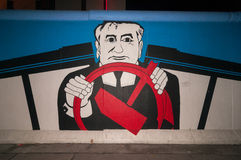 East Side Gallery - Gorbachev Stock Photography