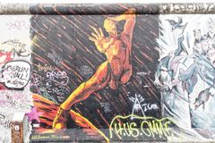 East side gallery graffiti Royalty Free Stock Photos