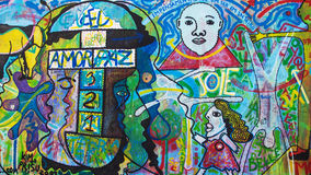 East Side Gallery, O Povo Unido Royalty Free Stock Photo