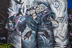 East Side Gallery, Ohne Titel by Ulrike Zott Stock Images