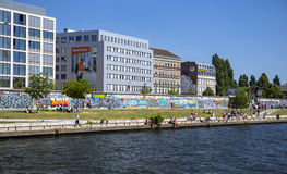East Side Gallery, one of the last remaining pieces of original Berlin Wall Stock Photos