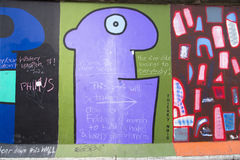 East side gallery protest Royalty Free Stock Photos