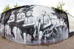 East Side Gallery - Street Art and Graffiti in Berlin, Germany Stock Photos