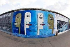East Side Gallery - Street Art and Graffiti in Berlin, Germany Stock Image