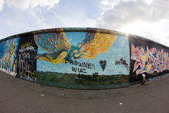 East Side Gallery - Street Art and Graffiti in Berlin, Germany Stock Photography