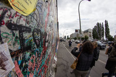 East Side Gallery - Street Art and Graffiti in Berlin, Germany Stock Photo