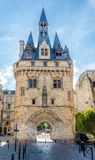 East side of Gate Cailhau - Porte Cailhau in Bordeaux - France Royalty Free Stock Images