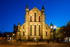 East side of Hexham Abbey at night Stock Image