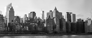 Manhattan from Roosevelt Island. East Side of Manhattan from Roosevelt Island royalty free stock photos