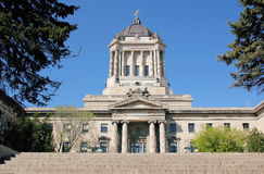 East Side of the Manitoba Legislative Building Royalty Free Stock Photo