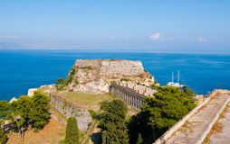 The east side of the Old Fortress. Corfu island, Greece. Royalty Free Stock Photo
