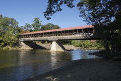 East Side Road Covered bridge. North Conway New Hampshire over the Saco River Stock Image