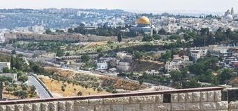 East Side of Temple Mount in Jerusalem stock photos