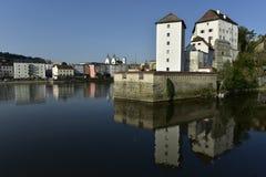East Side of Veste Niederhaus, Passau, Bavaria, Germany Stock Photography