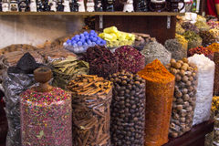 East spices on a spice souk Royalty Free Stock Photos