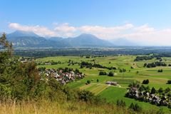 East from Straza, Bled to the valley and mountains Stock Images
