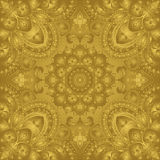 East, stylized, gold ornament. Royalty Free Stock Photos