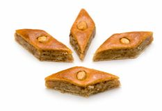 East sweets. Baklava. East sweets on a white background Stock Photo