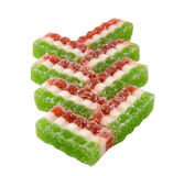 East sweets three-coloured sweets from fruit candy Royalty Free Stock Photo