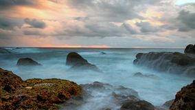East Taiwan coast landscape stock images