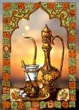 East tea illustration royalty free illustration