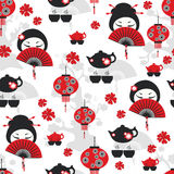 East tea time seamless pattern Royalty Free Stock Images