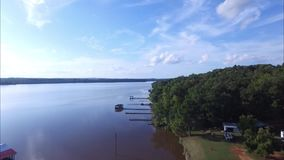 East texas scenics with lakes, forest, pipelines stock video footage