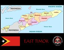 East Timor Administrative divisions Royalty Free Stock Photography