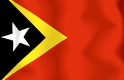 East Timor Flag. Flag east timor waving with highly detailed textile texture pattern Stock Illustration