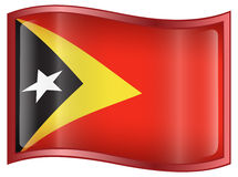 East Timor Flag icon Stock Photography