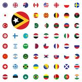 East Timor round flag icon. Round World Flags Vector illustration Icons Set. East Timor round flag icon. Round World Flags Vector illustration Icons Set Royalty Free Stock Photography