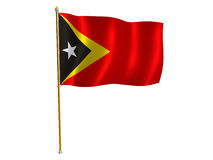 East Timor silk flag Royalty Free Stock Photo