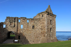 East tower, St Andrew's Castle, Fife, Scotland. royalty free stock photography