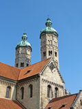 The east towers of the Naumburg cathedral in Germany Stock Image
