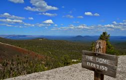 East View. Looking east from the top of The Dome - Newberry National Volcanic Monument, OR royalty free stock photo