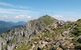 East view from Veliki Vrh in Karawanken mountains Royalty Free Stock Image